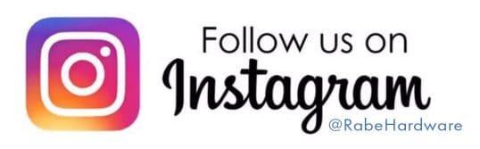 Follow Rabe Hardware on Instagram